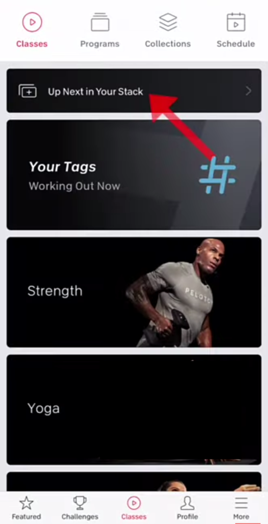 How To Stack Classes On The Peloton App